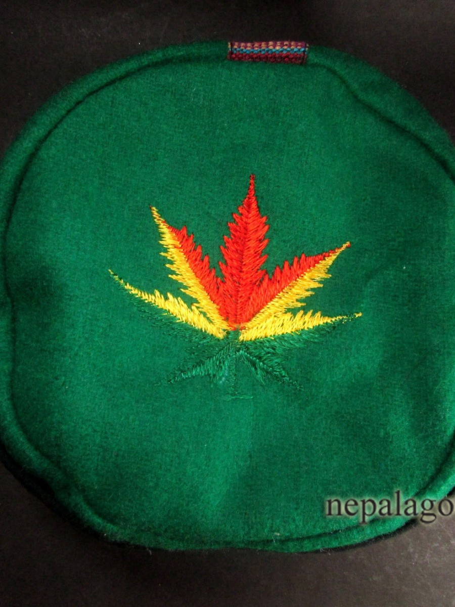 Tibetan Hemp Leaf Embroidery Cap - C865
