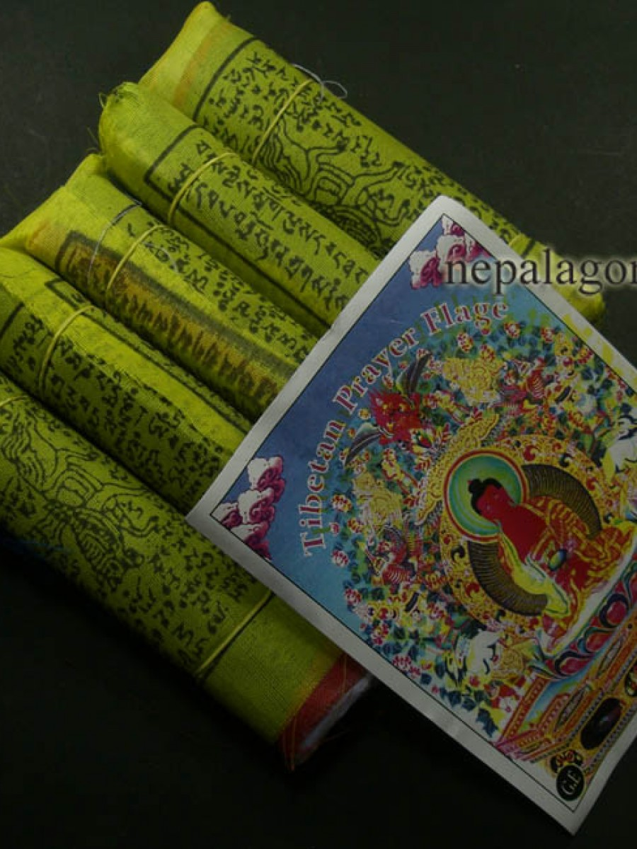 "Tibetan Set of 5 rolls 5.5""x 4.5"" prayer flags - PF83"