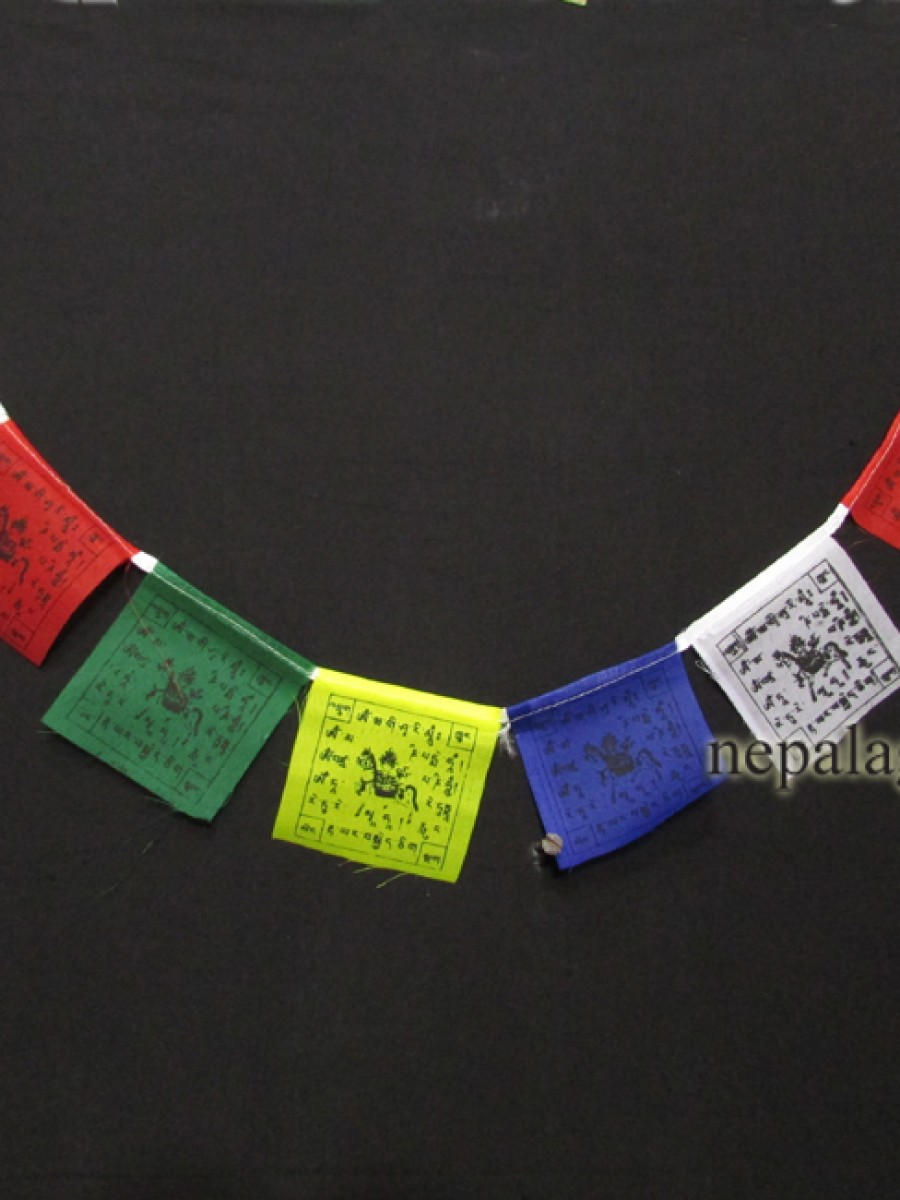 Tibetan Windhorse cotton prayer flags - PF95