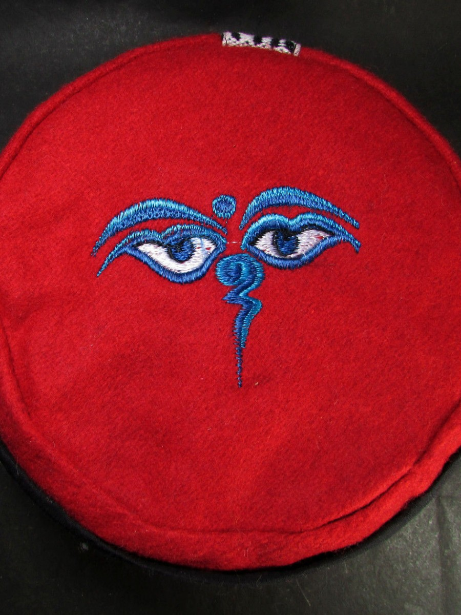Traditional Buddha Eye Embroidery Cap -C954
