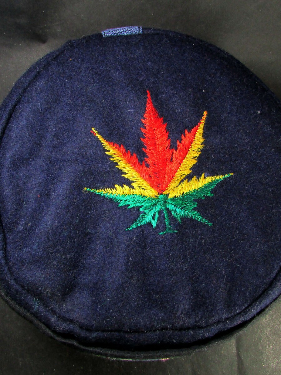 Traditional Hemp Leaf Embroidery Cap - C961
