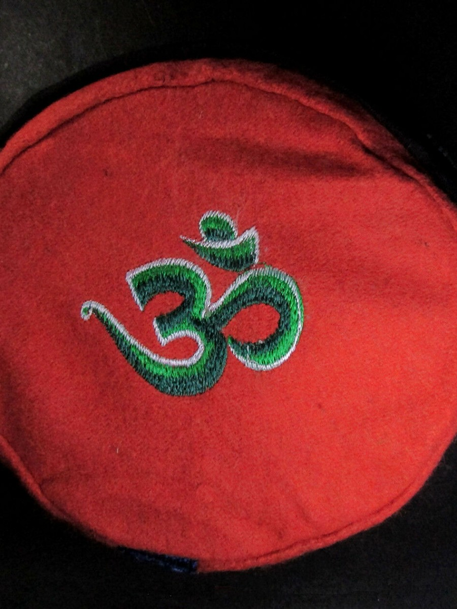 Traditional Sanskrit Om Embroidery Cap - C895