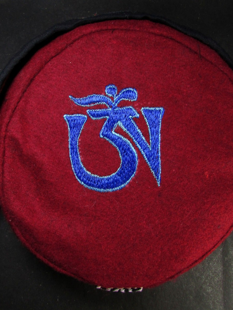 Traditional Tibetan Om Embroidery Cap - C935