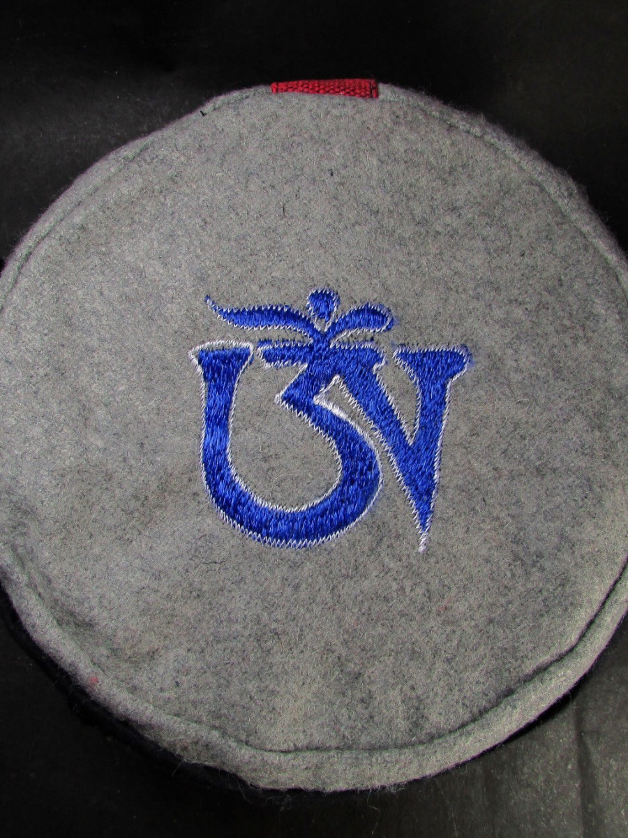 Traditional Tibetan Om Embroidery Cap - C955
