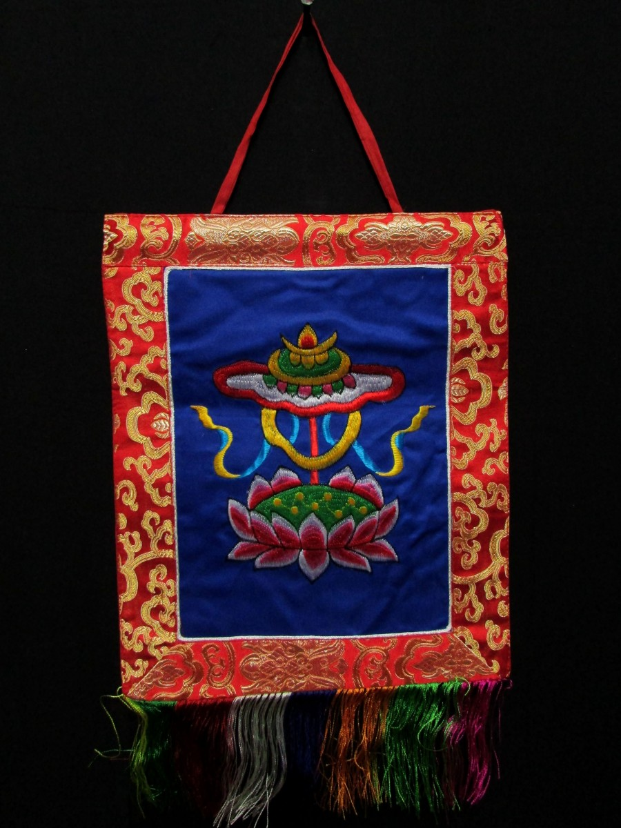 Treasure Vase Wall Hanging Thanka Nepal - Th124