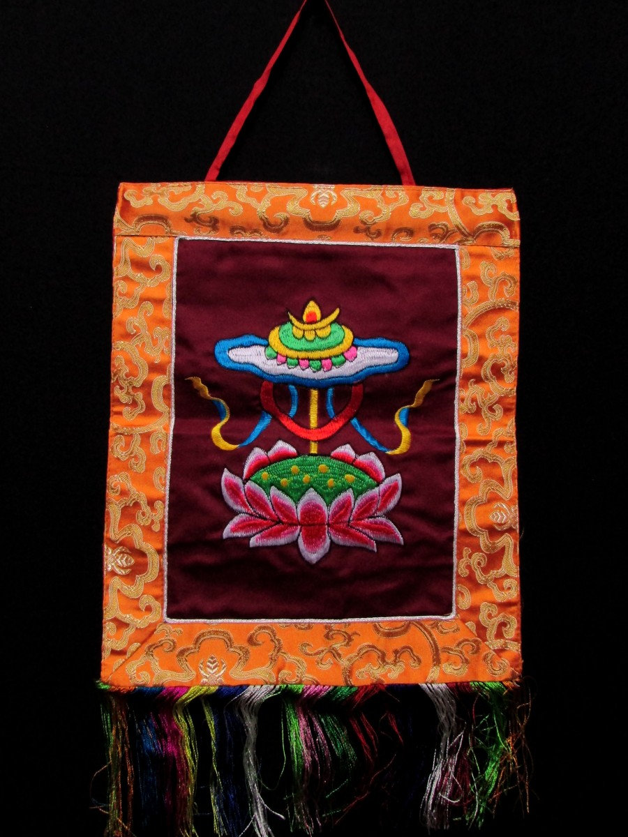 Treasure Vase Wall Hanging Thanka Nepal - Th125