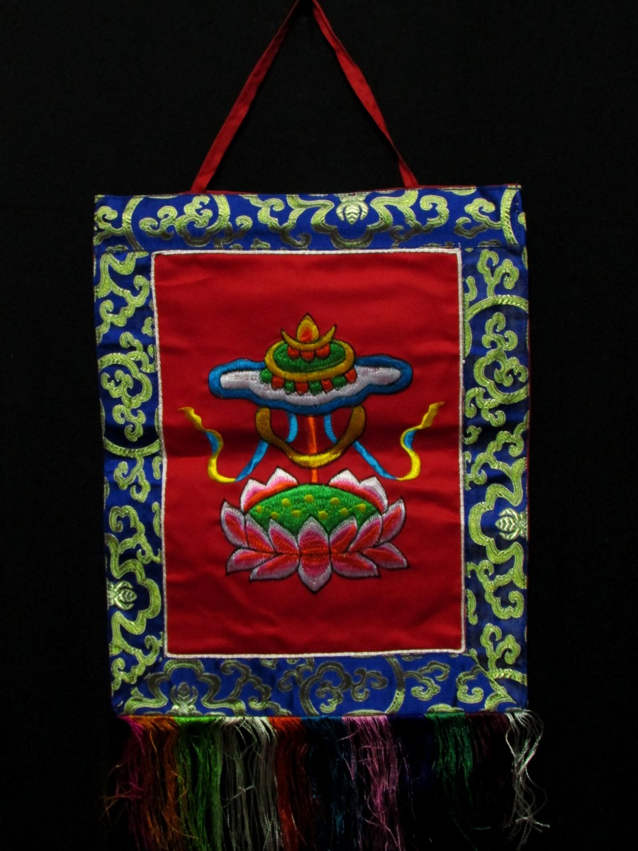 Treasure Vase Wall Hanging Thanka Nepal - Th126