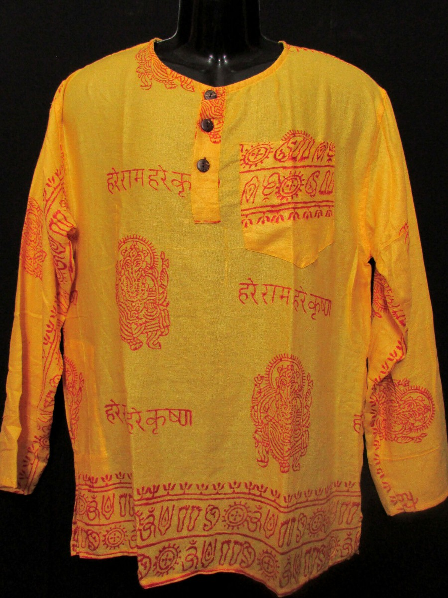 Unisex Yellow Hippie Summer Shirt - Sh1013 L