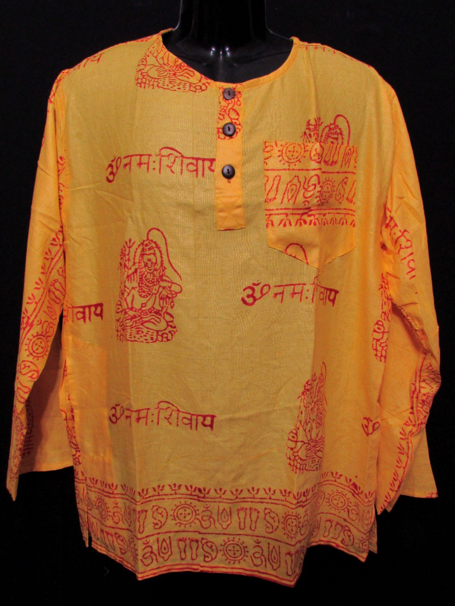 Unisex Yellow Shiva Summer Shirt - Sh1005 L
