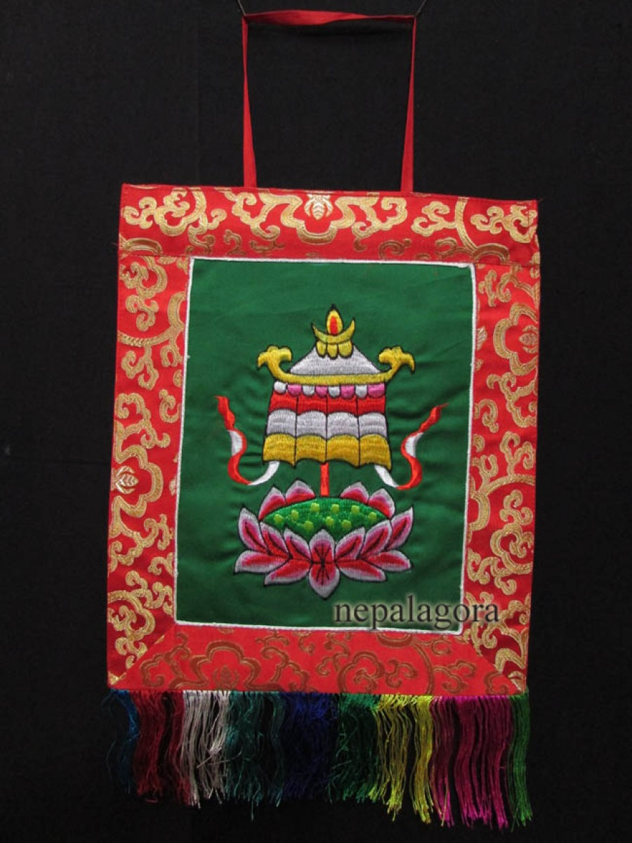 Victory Banner Embroider Hanging Thanka - Th149