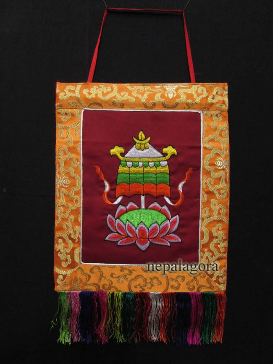 Victory Banner Embroidery Hanging Thanka - Th150