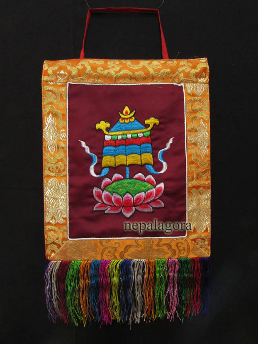 Victory Banner Embroidery Thanka hanging - Th147