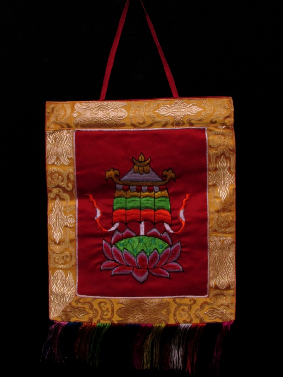 Victory Banner Wall Hanging Gift Thanka - Th152