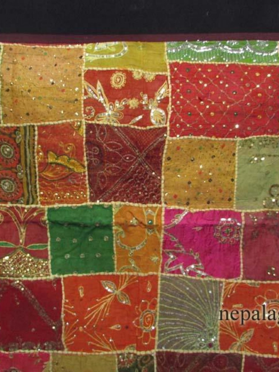 Vintage Tribal patchwork embroidery Banjara Art Tapestry Wall Hanging Decor