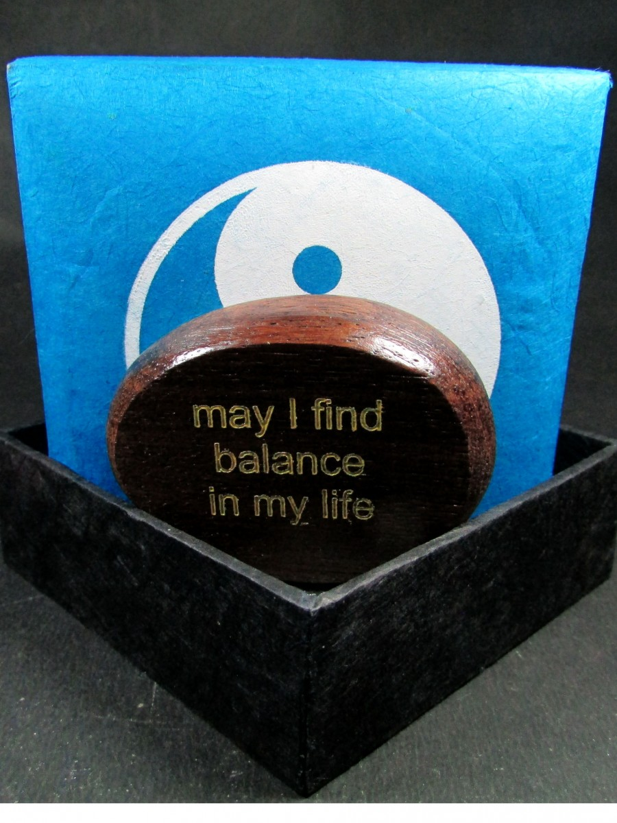 Wood craft Quote Phrase Lokta Gift box - QB5
