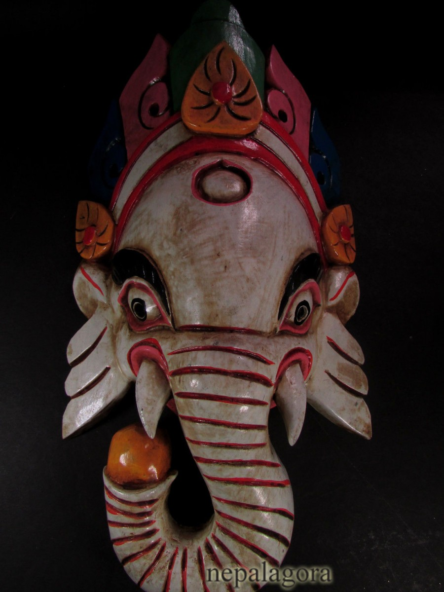 Wooden Ganesh Mask - M119