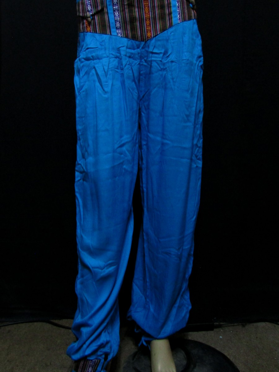 XL Rayon Ladies Blue PANT TROUSER - Tr397